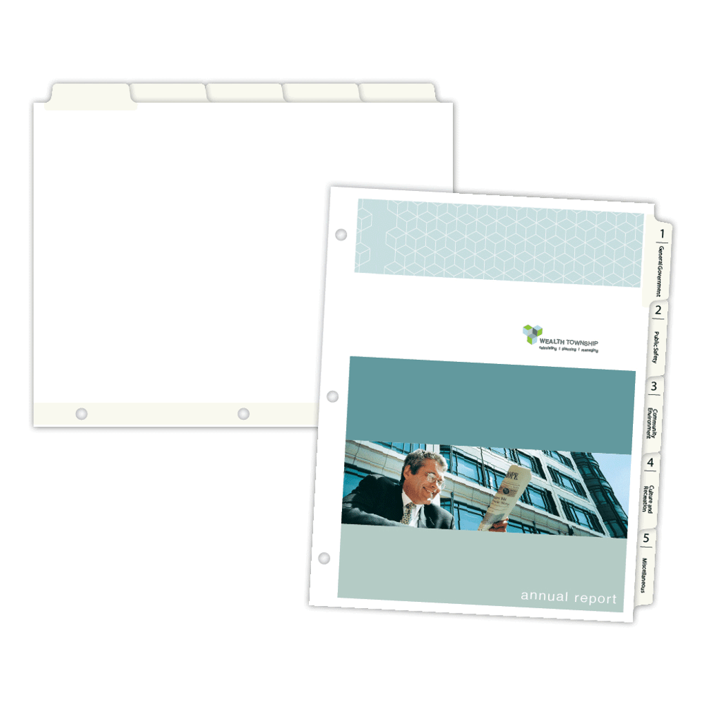 """picture relating to Printable Tab Paper referred to as 5-Financial institution Copytabsâ""""¢ Tab Dividers"""