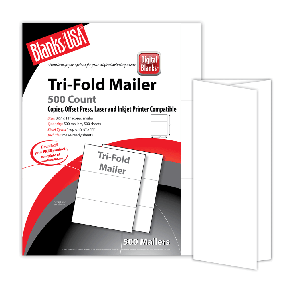 "Tri-Fold Brochure, 1-up on 8.5"" x 11"""