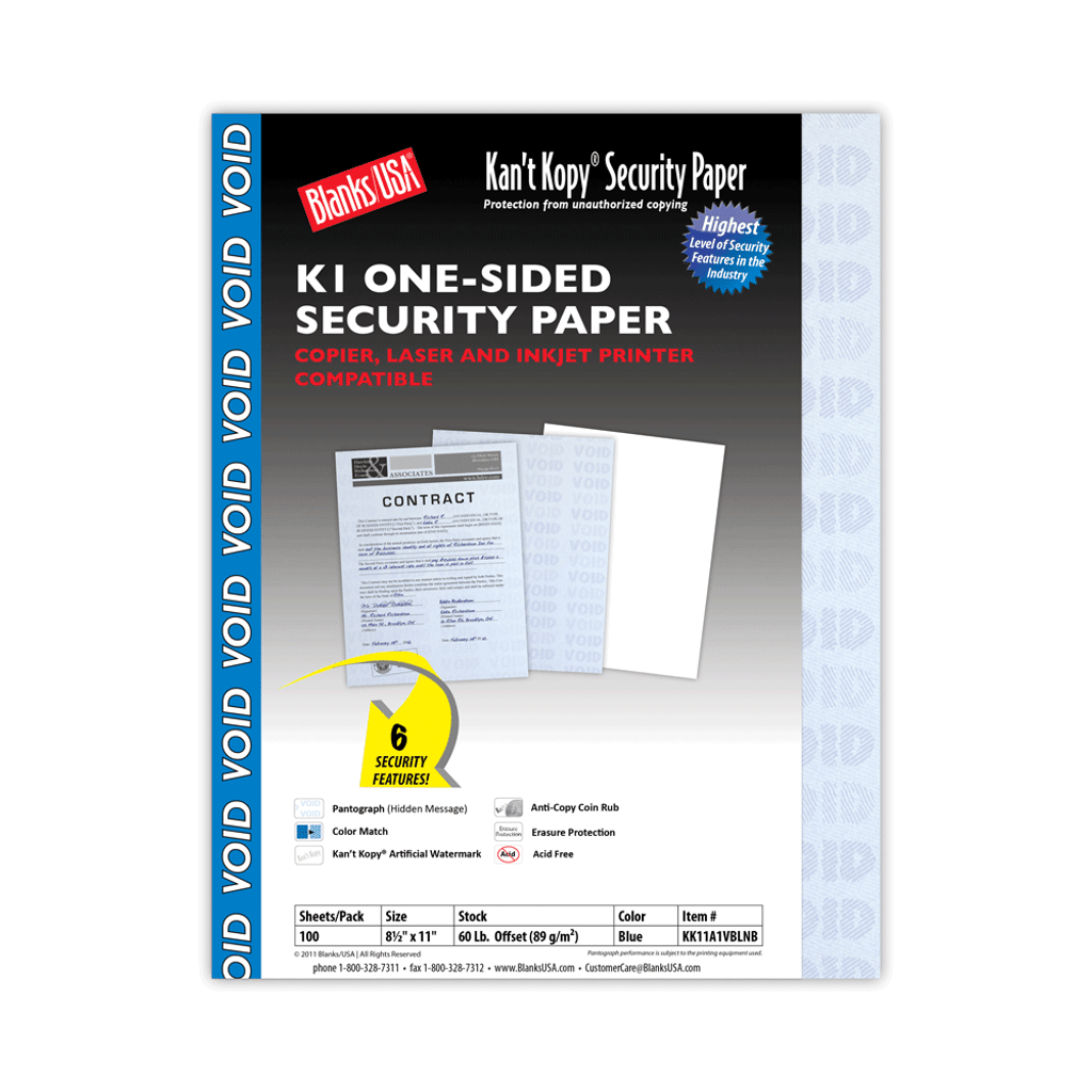 Kan't Kopy K1 Security Paper