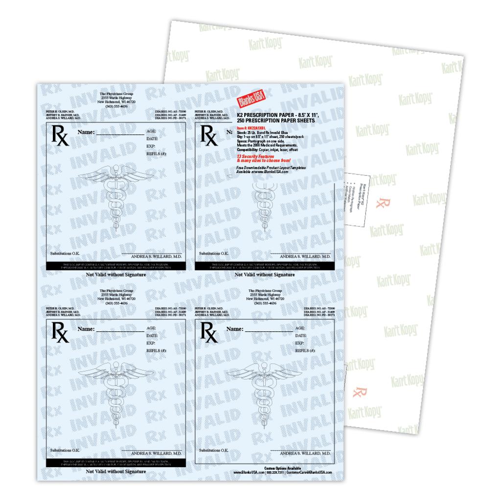 Sample Premium Prescription Paper