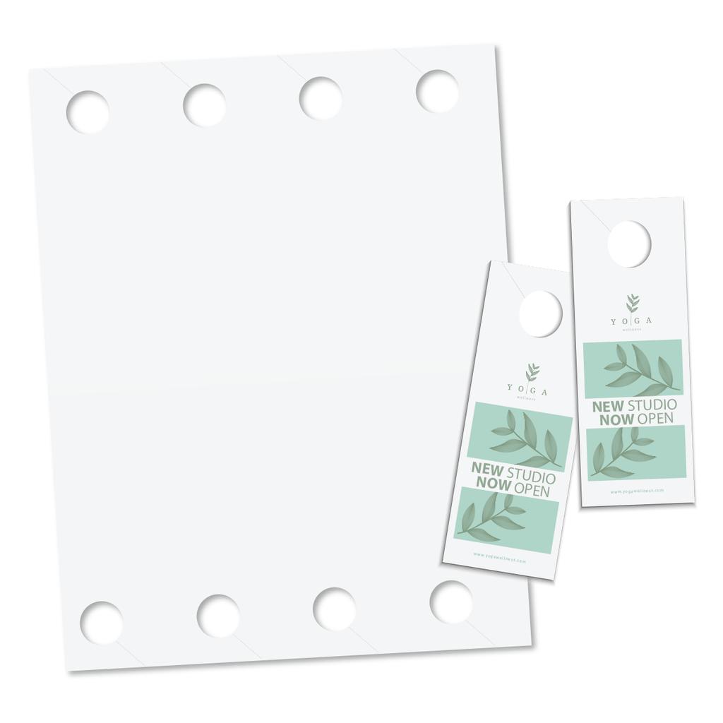 Regular Door Hanger, 8 Hangers/Sheet