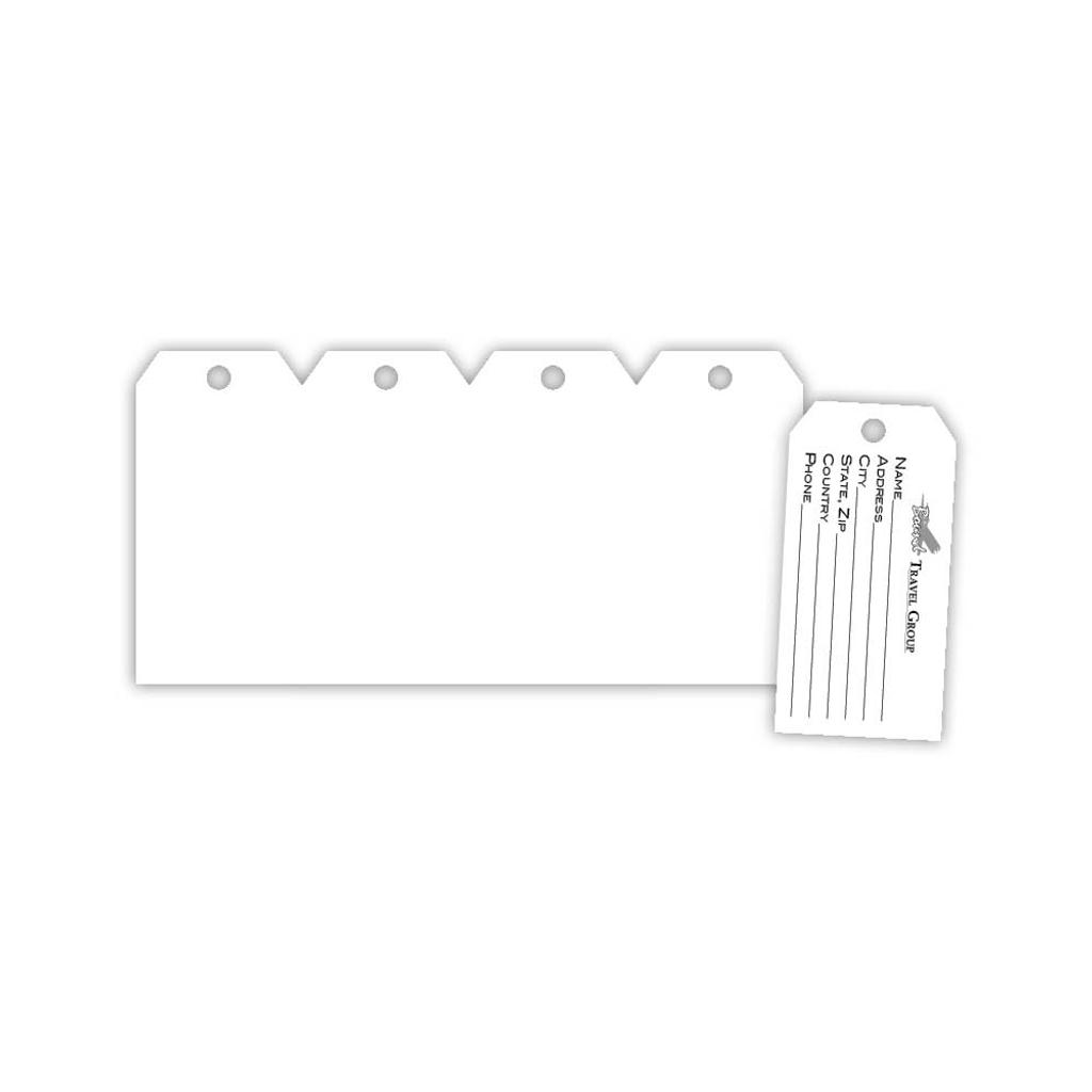 Tag sample and sheet.
