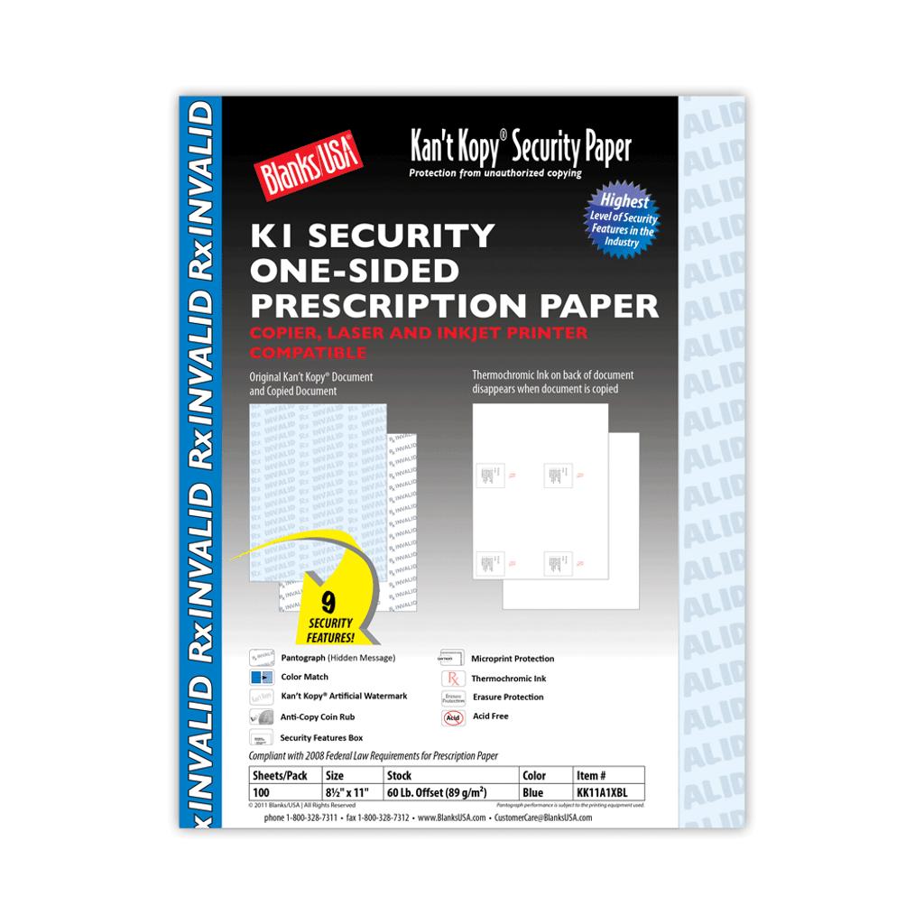 Kan't Kopy K1 Prescription Paper