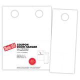 """Door Hanger with coup on, 2-up on 8.5"""" x 11"""" sheet"""