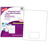 """Integrated Cards, 1-up on 8.5"""" x 11"""" sheet"""