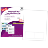 """Integrated Cards, 2-up on 8.5"""" x 11"""" sheet"""