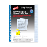 Kan't Kopy Two-Sided Security Paper