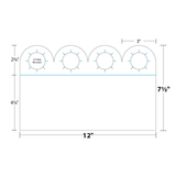 Bottle Neck Hanger measurements and dimensions.