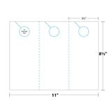 Door Hanger measurements and dimensions 3-up
