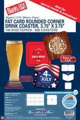 Fat Card™ Rounded Corner Drink Coaster - Cover