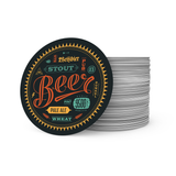 Printed Circle Drink Coasters - Sample Artwork