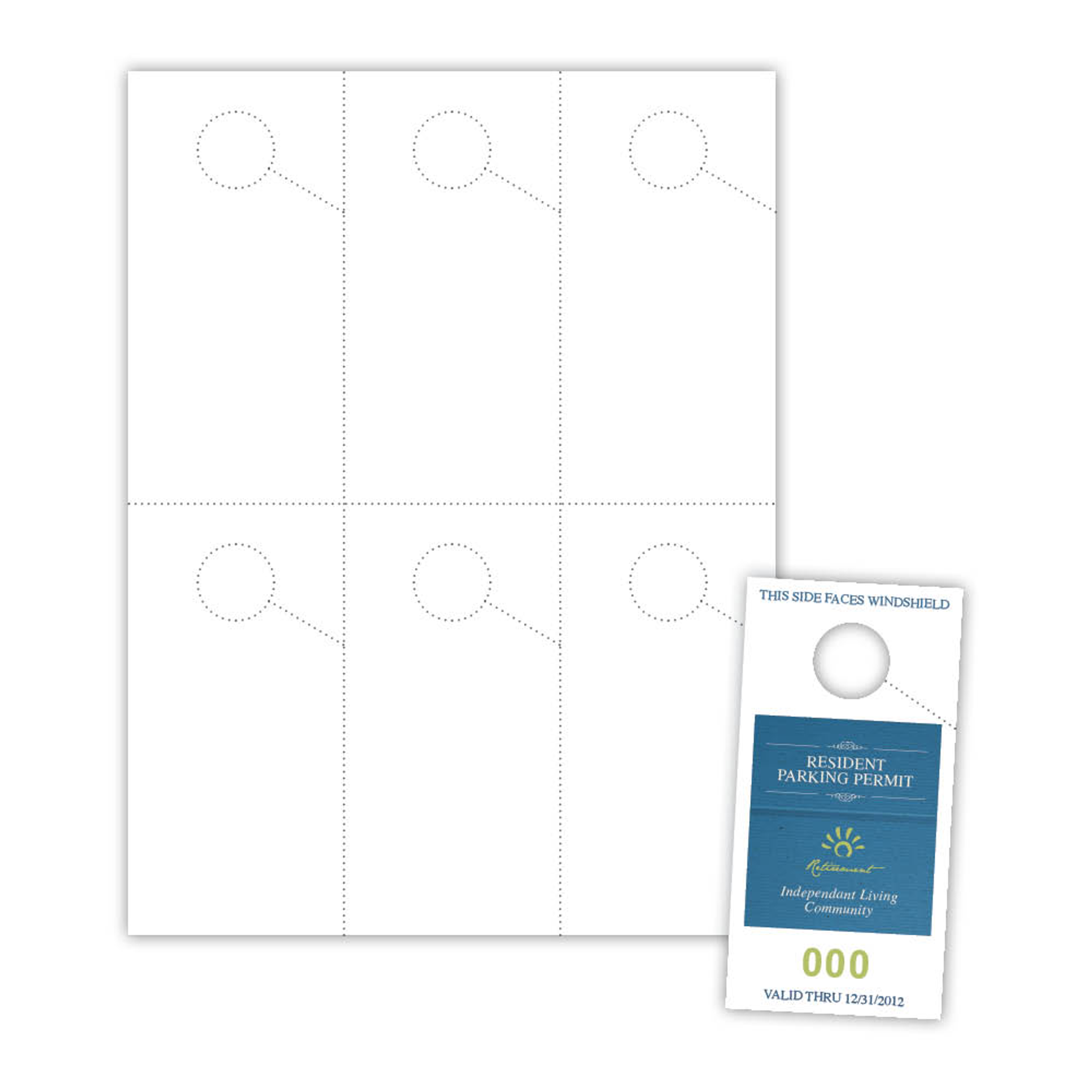 Micro Perforated Parking Pass Pph006 Blanks Usa