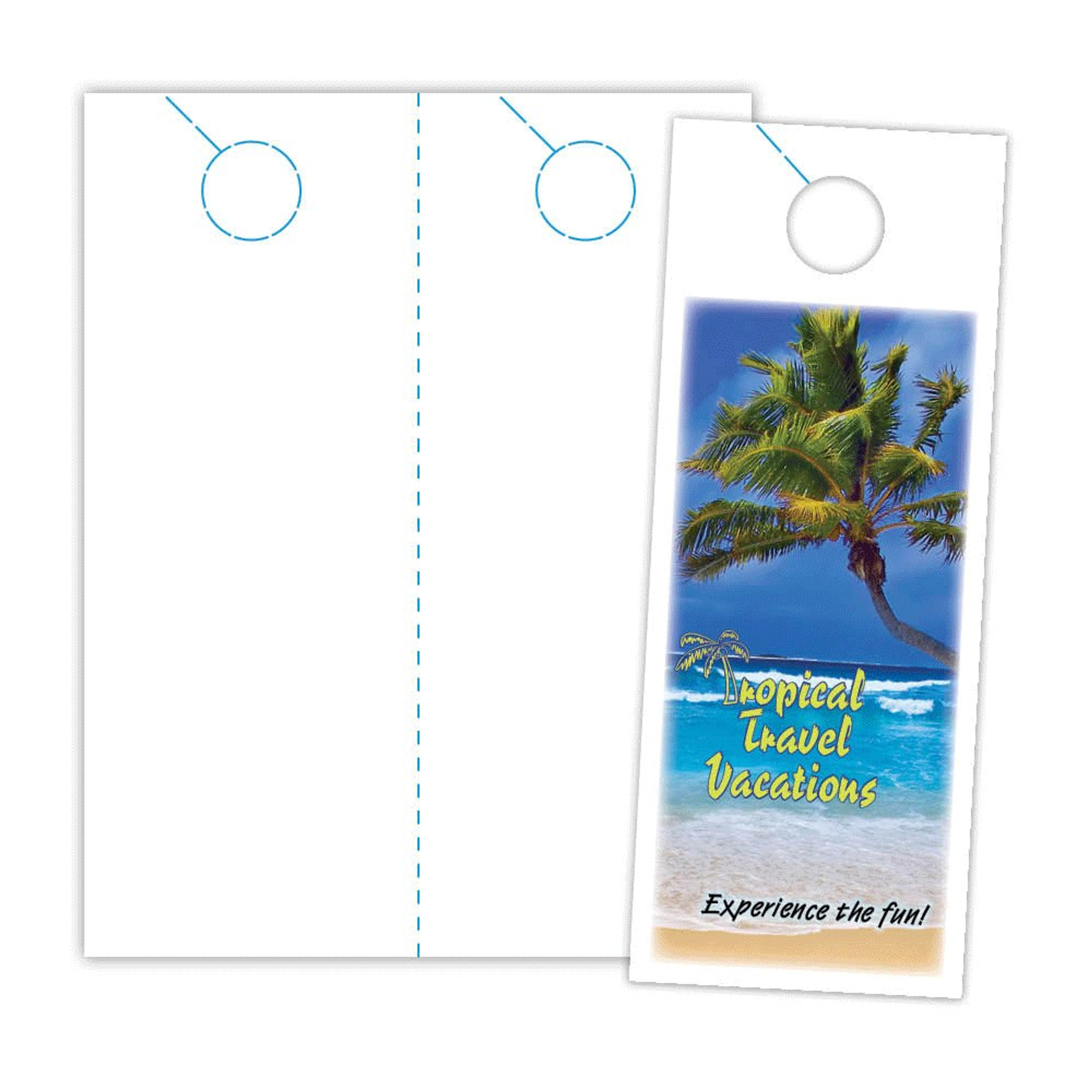 Micro Perforated Jumbo Door Hanger Ldh 5 Cl Blanks Usa