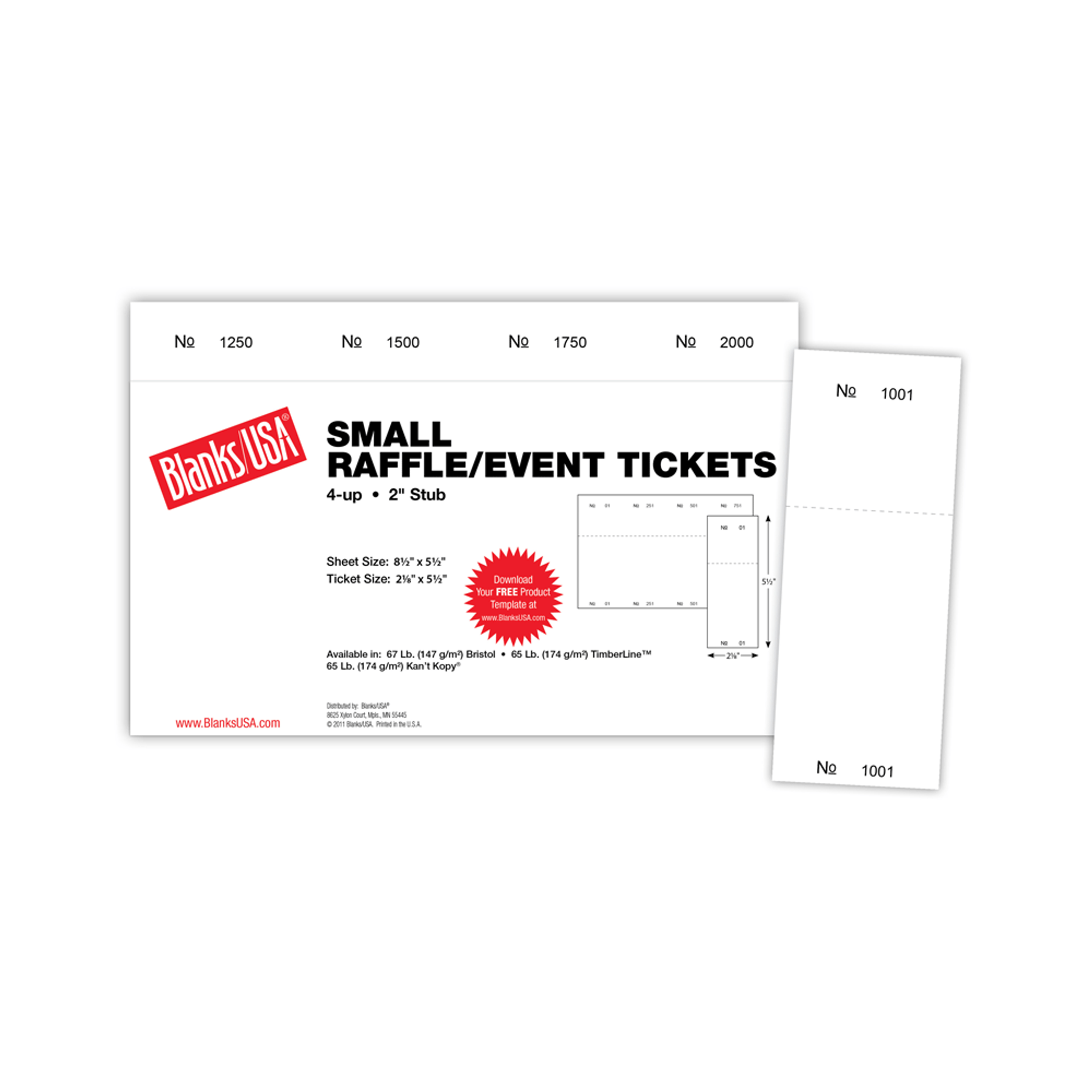 Canary Digital Raffle/Event Tickets 400 Pack Office Products ...