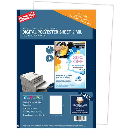 7 Mil. Polyester Paper - Package