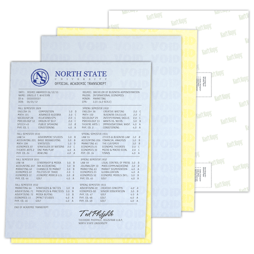 Security Paper sample and sheet.