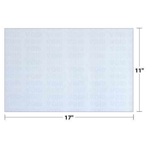 Security Paper dimensions.
