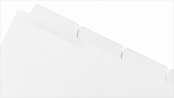 Blanks/USA Printable Mylar Tabs