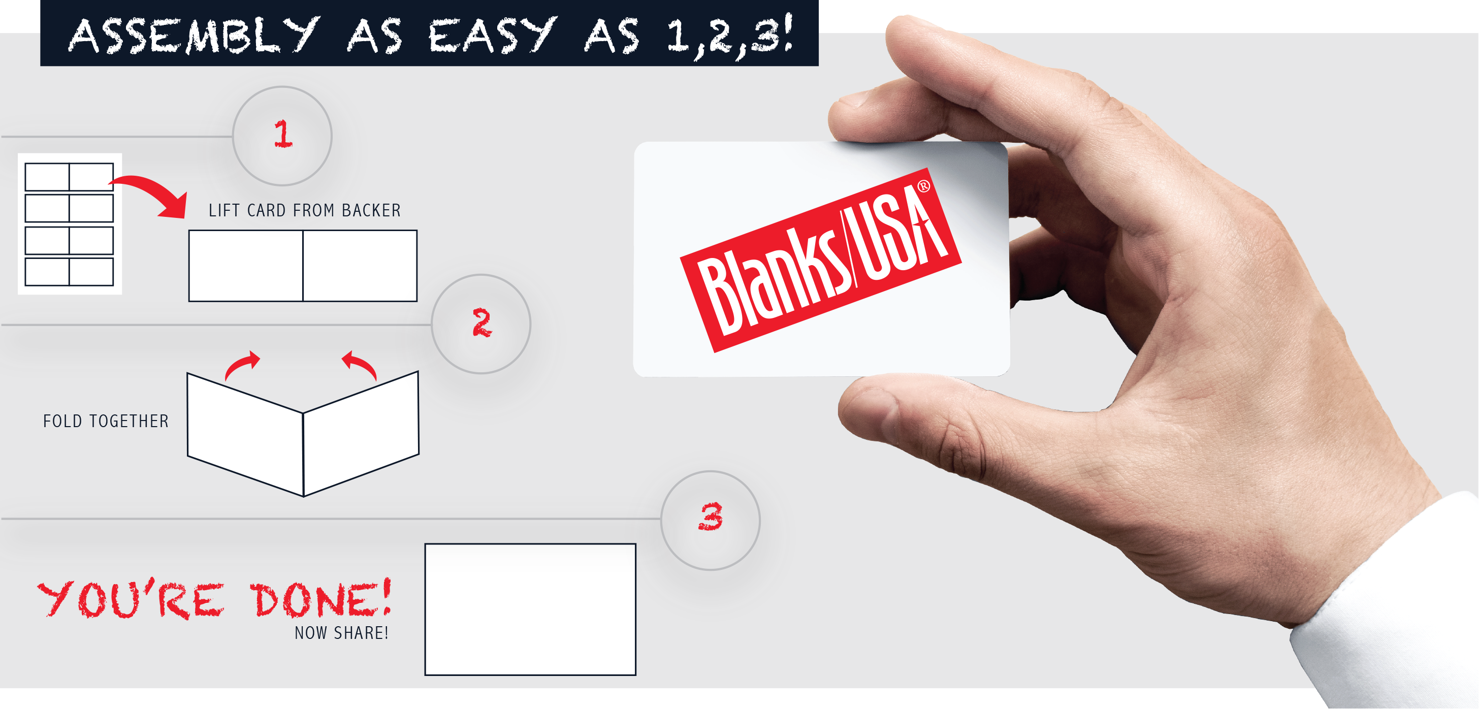 Fat Card™ - Assembly Easy as 1, 2, 3!