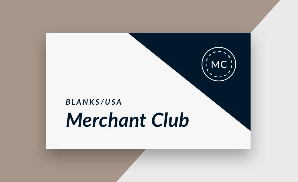 Blanks/USA Merchant Club Card