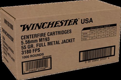 Winchester 5.56mm M193 55gr FMJ - Catalog