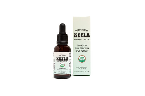 Kefla Organics USDA Organic Full Spectrum Hemp Extract CBD Oil Peppermint
