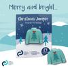 Christmas jumper enamel pin badge (Christmas tree)