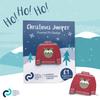 Christmas jumper enamel pin badge (Christmas pudding)