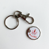 Be More Ruby trolley coin keyring