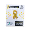 Glitter gold ribbon pin badge