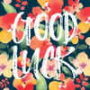 Bright flowers good luck card
