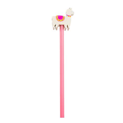 Llama eraser pencil topper with pencil | Sass & Belle
