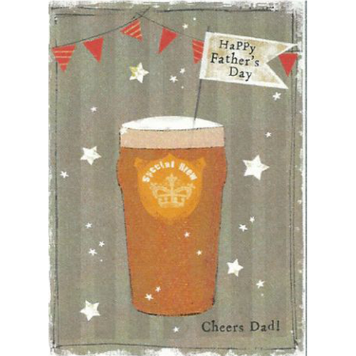 Cheers Dad! Pint of beer Father's Day card