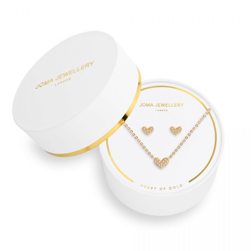 Sentiment Set   Earrings and Necklace   Heart of Gold   Joma Jewellery