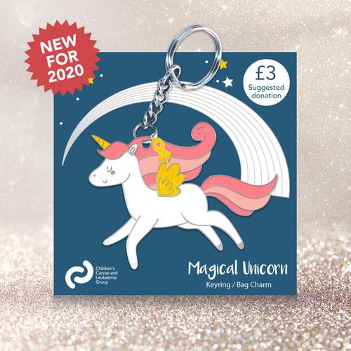 Magical unicorn keyring/bag charm