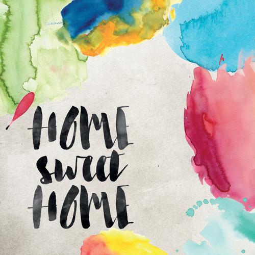 Home sweet home watercolour card