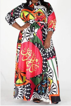 Ethnic print maxi dress.