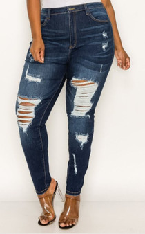 Fashion jeans dark blue