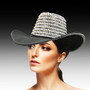 Pearl and rhinestone encrusted outback hat.