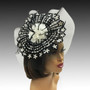 Optic patterned sequin pinwheel fascinator.
