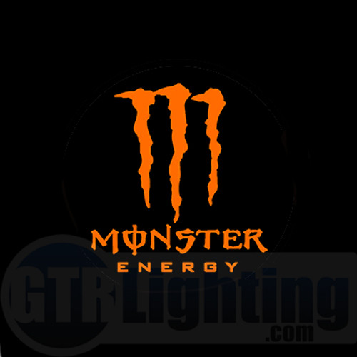 GTR Lighting LED Logo Projectors, Orange Monster Energy Logo, #54