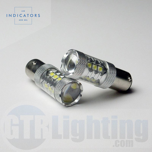"GTR Lighting 16-LED High Power CREE (""80W"") 1157 LED Bulbs"