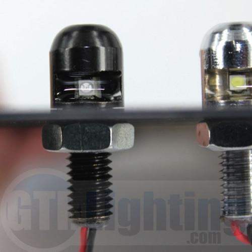 GTR Lighting License Plate LED Bolts - Down Firing (Black or Chrome)