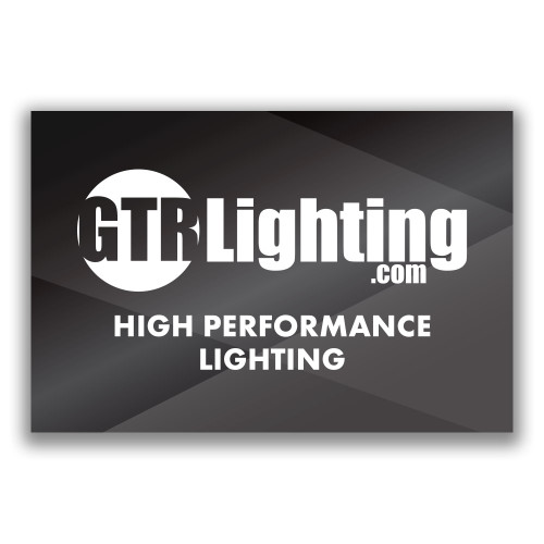 GTR Lighting Logo 6' Vinyl Shop Banner - Gray