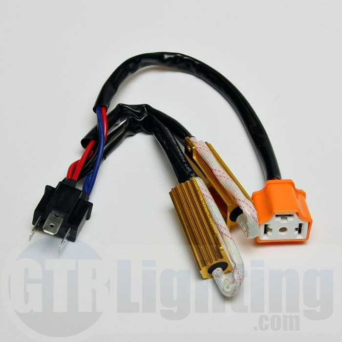 GTR Lighting H4 Style 50W Resistor T-Harness