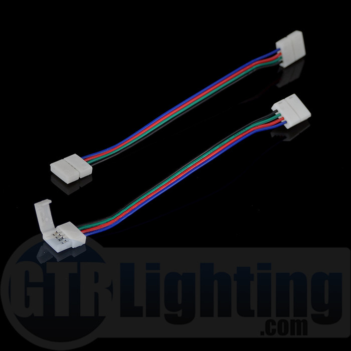 GTR Lighting Quick Clip LED Strip Harness, 4-Pin (For RGB Color LED Strips)