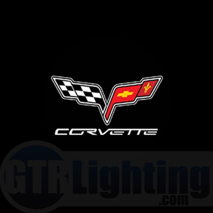 GTR Lighting LED Logo Projectors, Corvette Logo, #26