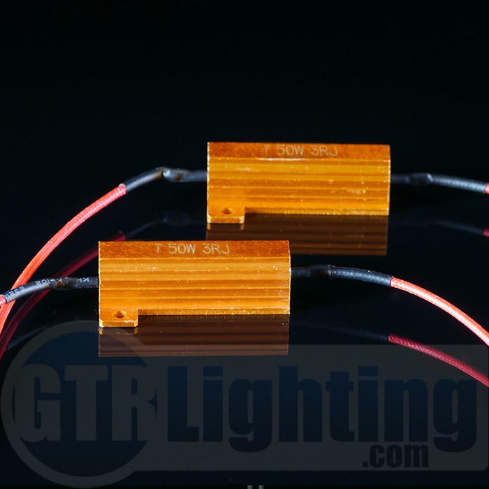 GTR Lighting 50 watt 3 ohm Gold Style Resistors, for Custom Installation