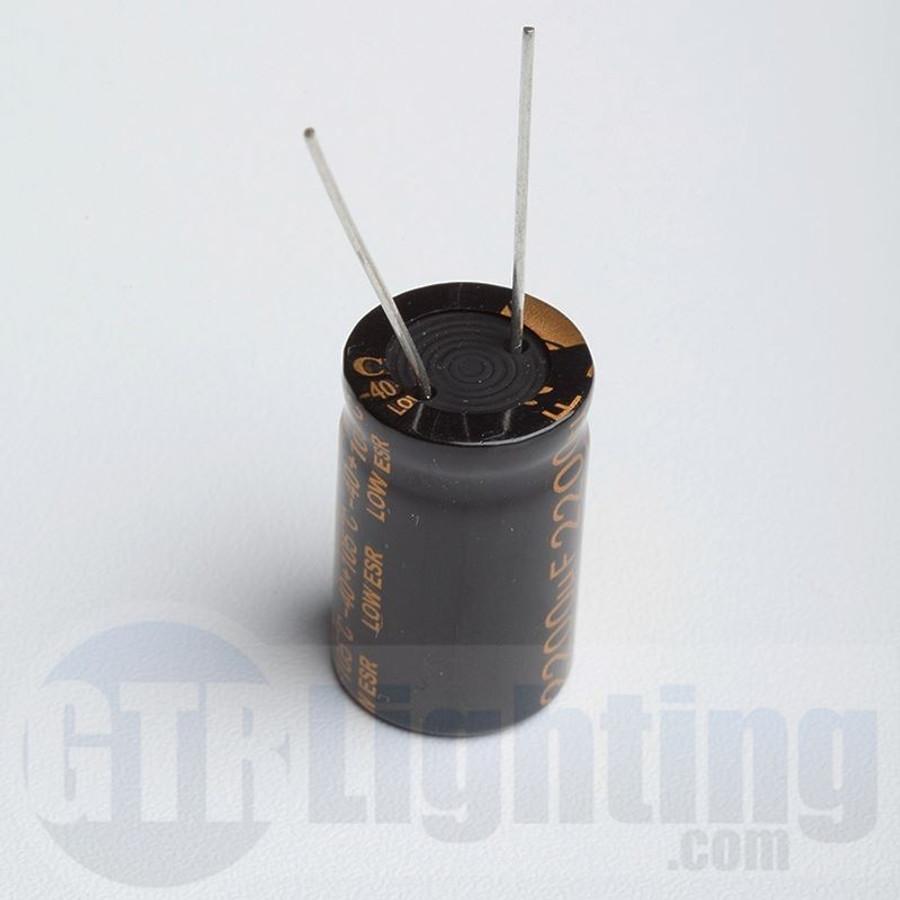 GTR Lighting 2200UF 25V Electrolytic Capacitor, for use in custom installs