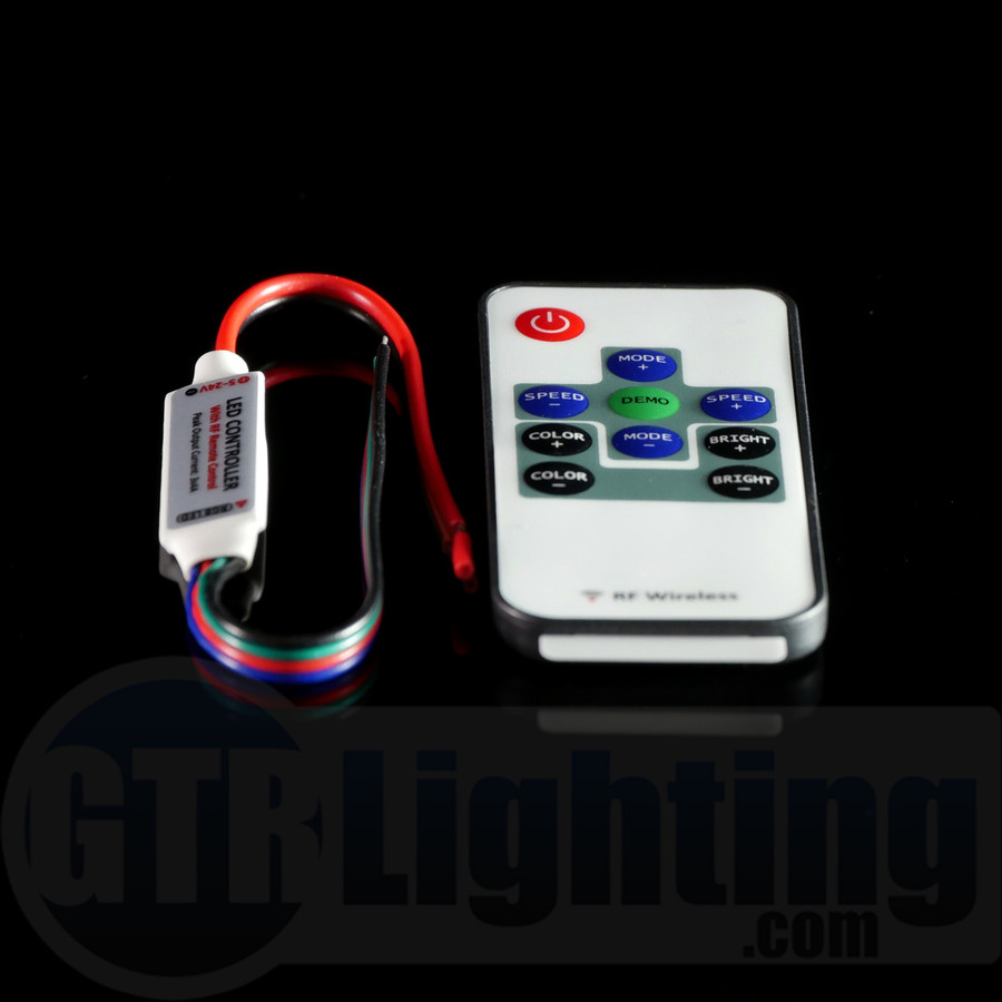 GTR Lighting Mini LED Controller with RF Remote: Single Color
